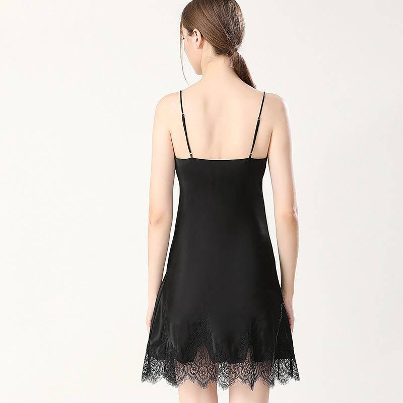 silk nightgown short